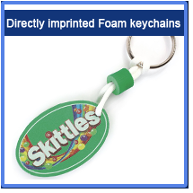 Directly imprinted Foam keychains